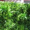 Mur Végétal Artificiel Liseron Blanc 1m x 1m