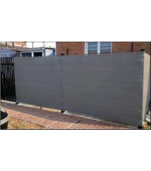 Brise vue toile tissée Gris 120 cm X1000 cm 240g/m²