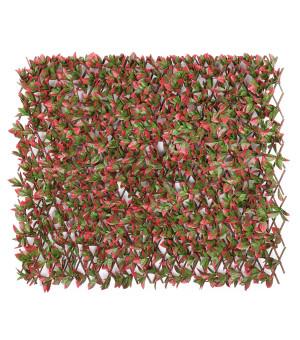 Brise vue Treillis Extensible  LAURIER Rouge 1 x 2 M
