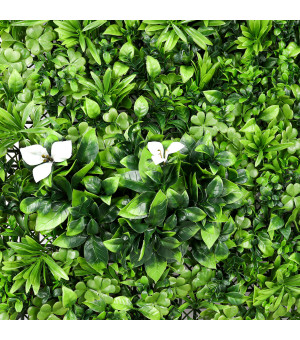 Mur Végétal Artificiel  Blanc  1 m x 1 m