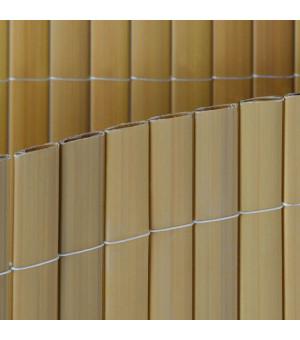 Canisse PVC  double face couleur bambou(jaune) double face